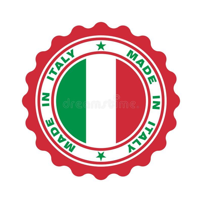 """Timbre avec le texte """"fabriqué en Italie """" illustration libre de droits"""