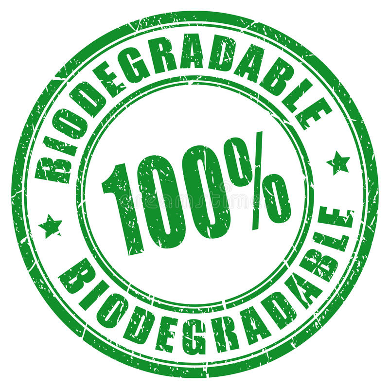 timbre 100 biodégradable illustration libre de droits