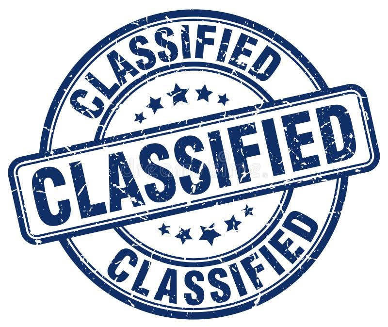 timbre bleu classifié illustration libre de droits