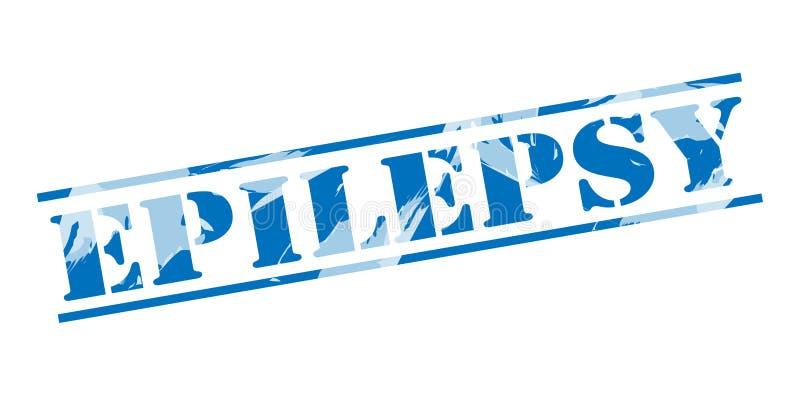 Timbre bleu d'épilepsie illustration stock