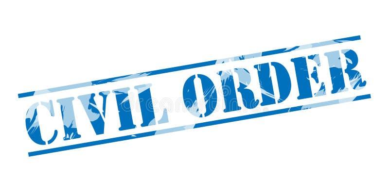 Timbre bleu d'ordre civil illustration de vecteur