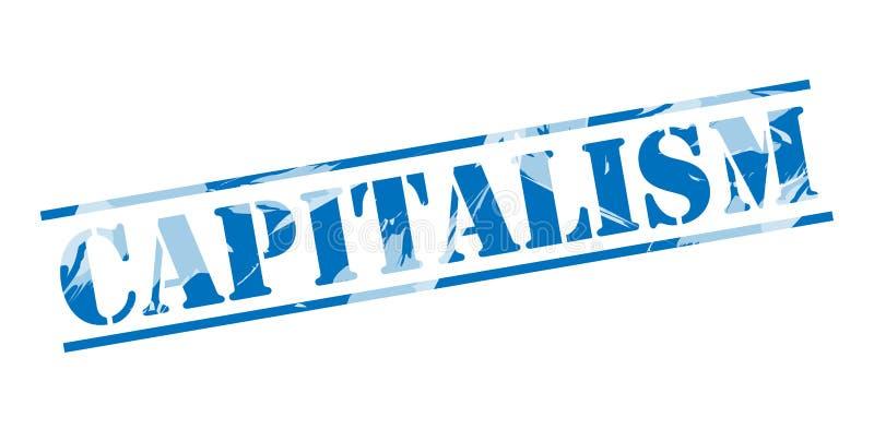 Timbre bleu de capitalisme illustration stock
