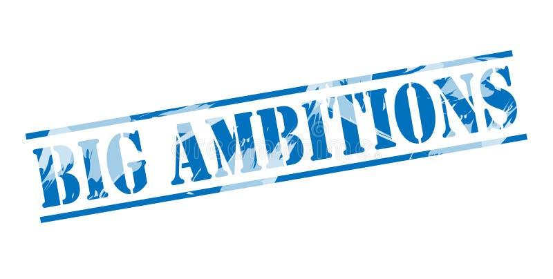 Timbre bleu de grandes ambitions illustration stock
