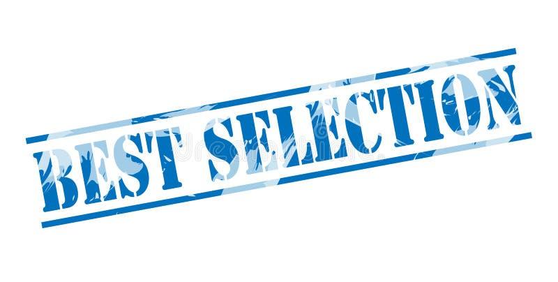 Timbre bleu de la meilleure sélection illustration stock