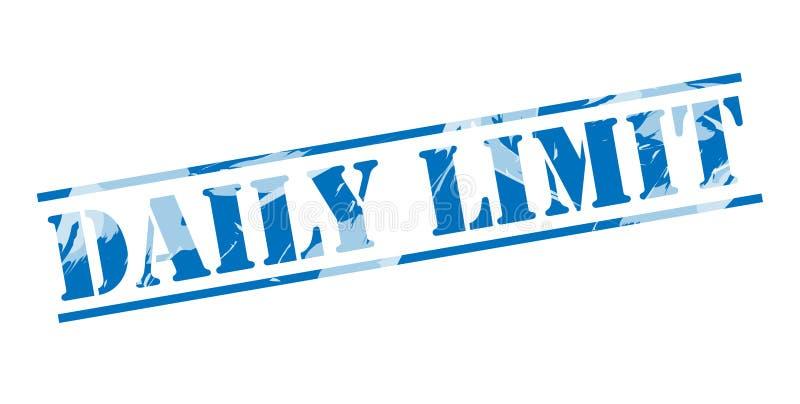 Timbre bleu de limite quotidienne illustration de vecteur