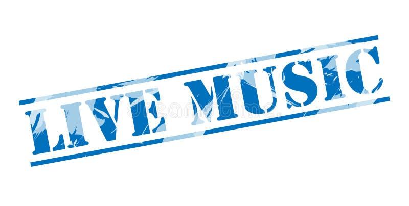 Timbre bleu de musique en direct illustration libre de droits