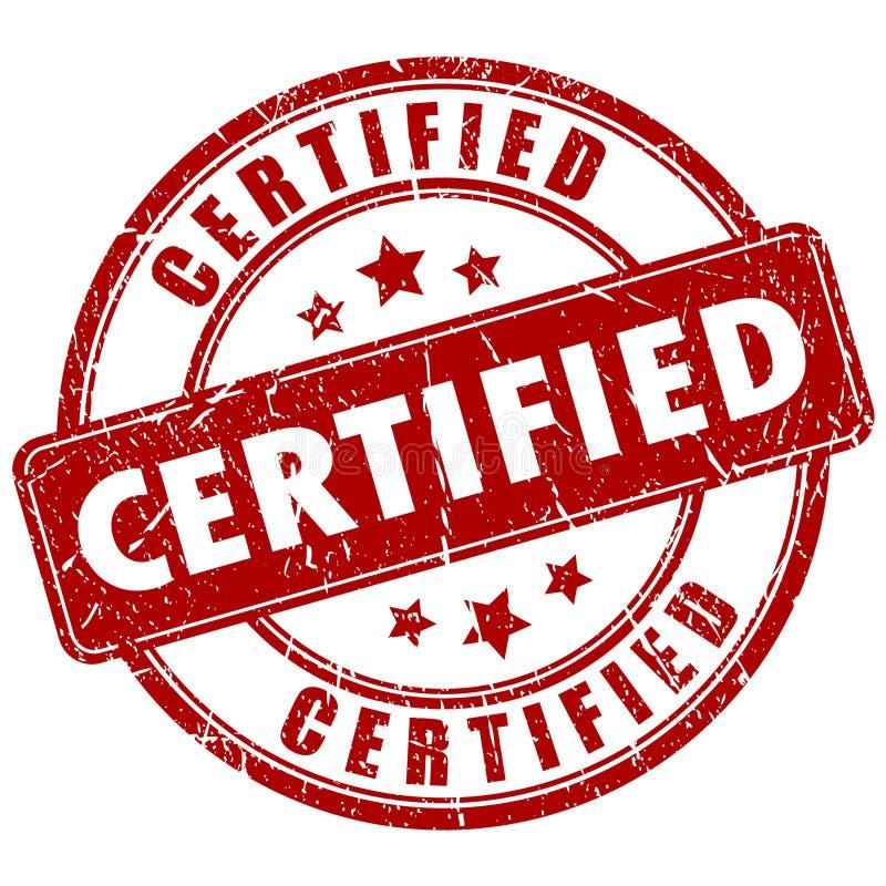 Timbre certifié par vecteur illustration de vecteur