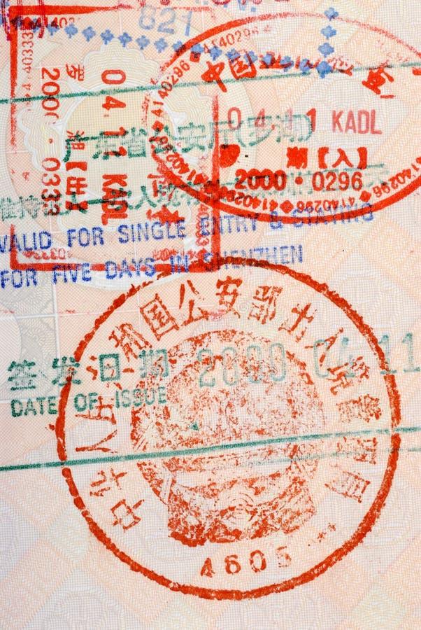 Timbre chinois de douane photographie stock libre de droits