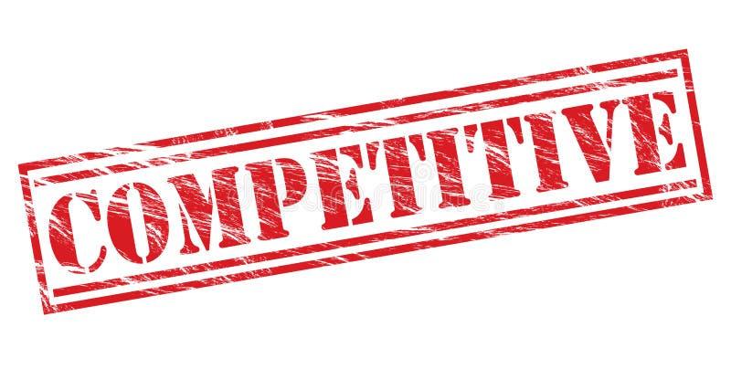 Timbre concurrentiel illustration libre de droits