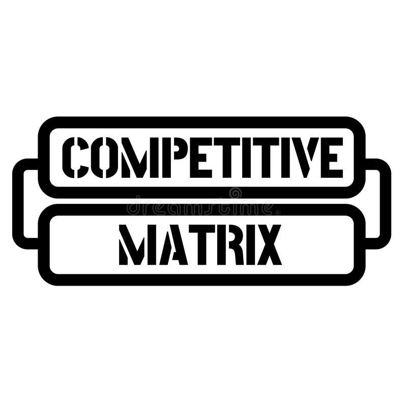 Timbre concurrentiel de matrice illustration stock