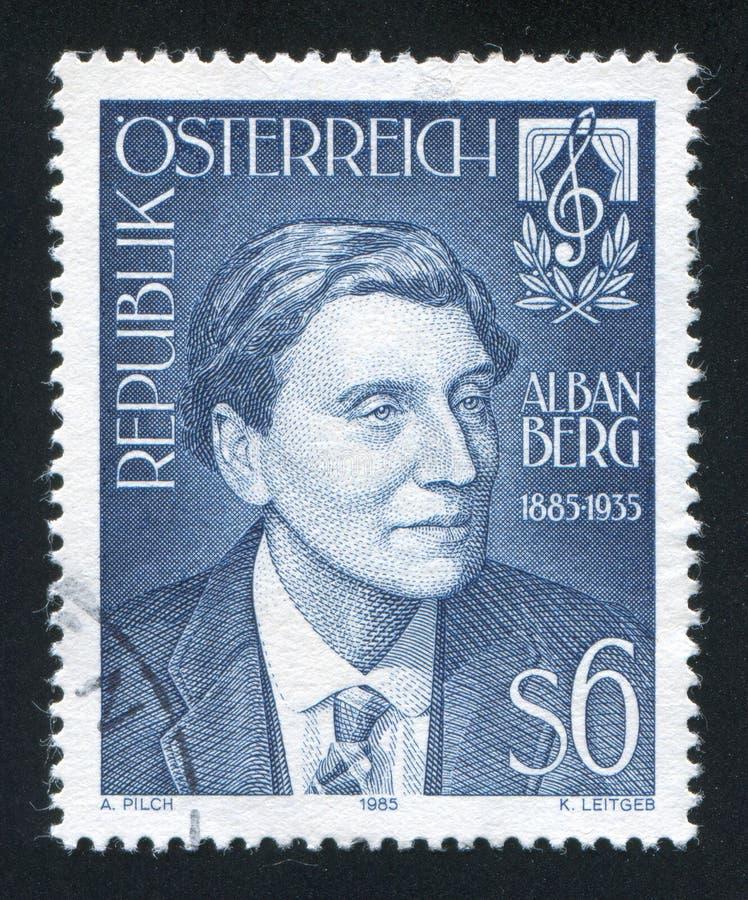 Timbre d'Alban Berg Austria images libres de droits