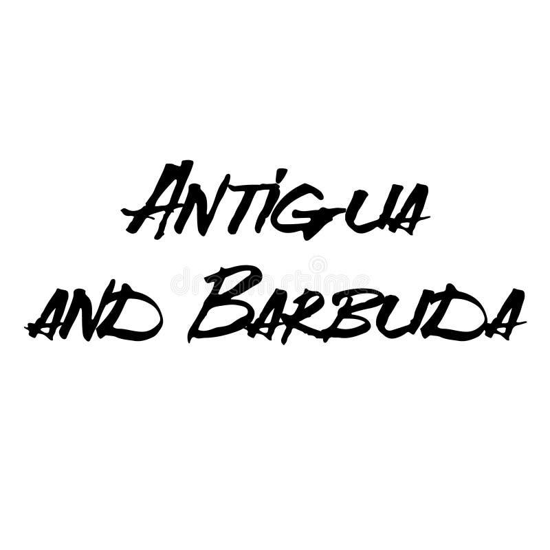 Timbre d'Antigua et de Barbuda sur le blanc illustration de vecteur