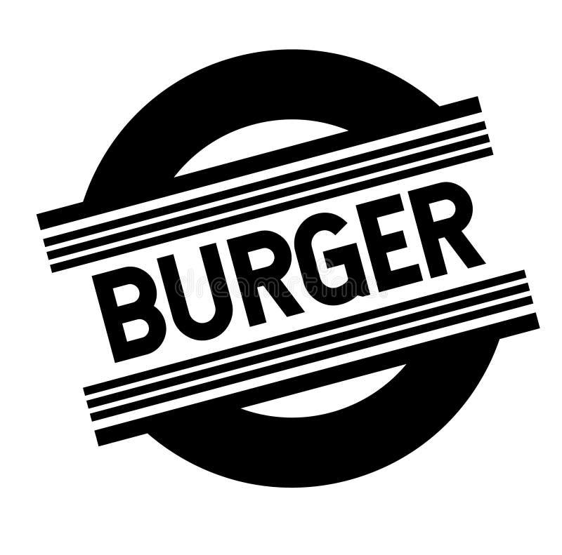 Timbre d'hamburgers sur le blanc illustration stock