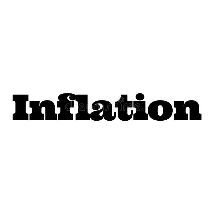 Timbre d'inflation sur le blanc illustration stock