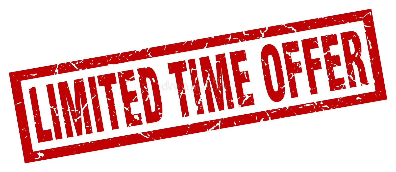 Timbre d'offre de temps limité illustration libre de droits