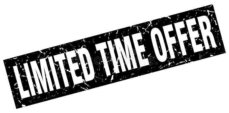 Timbre d'offre de temps limité illustration stock