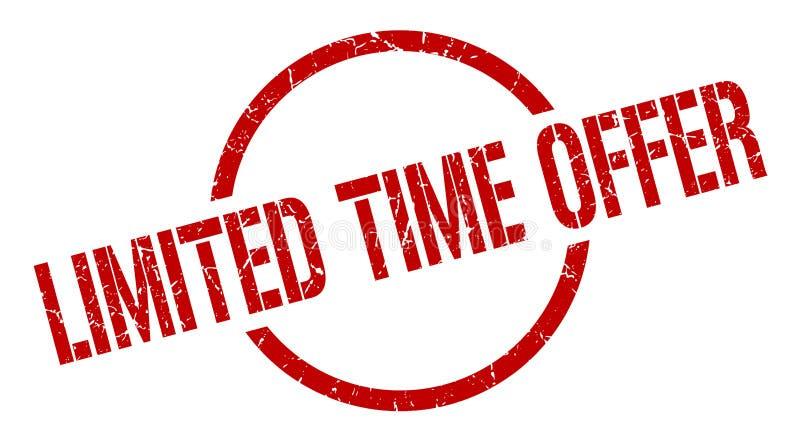 Timbre d'offre de temps limité illustration de vecteur