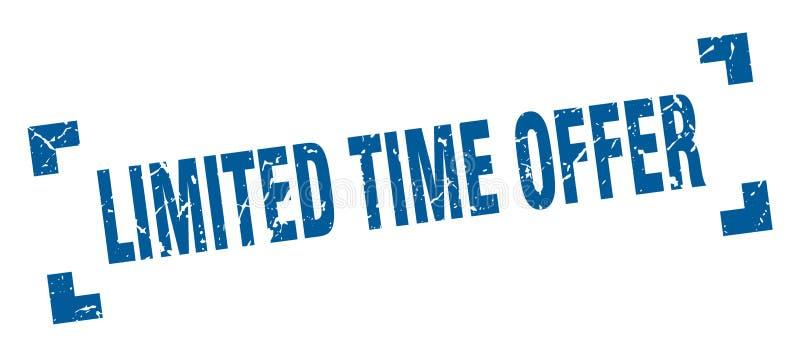 Timbre d'offre de temps limit? illustration de vecteur