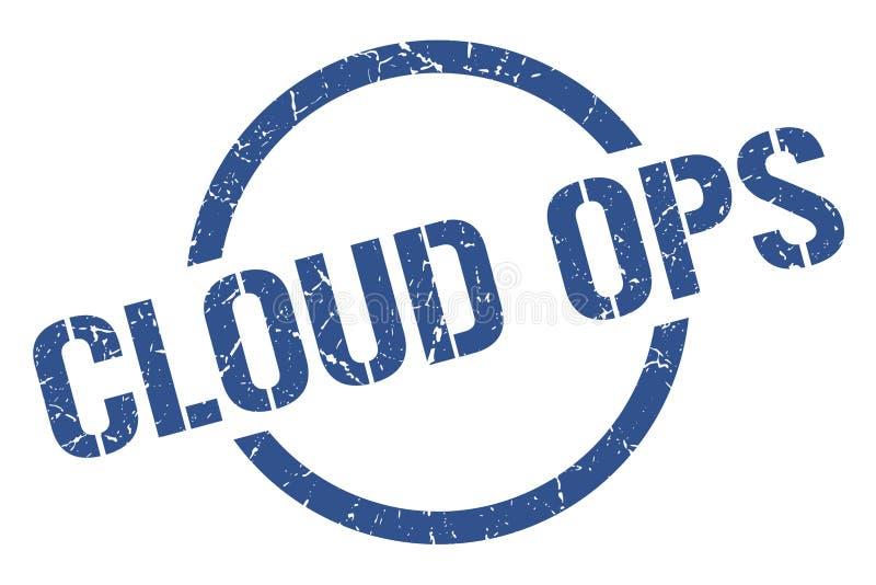 timbre d'ops de nuage illustration libre de droits