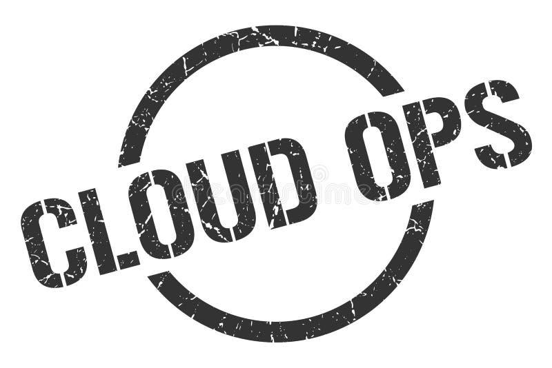 timbre d'ops de nuage illustration stock