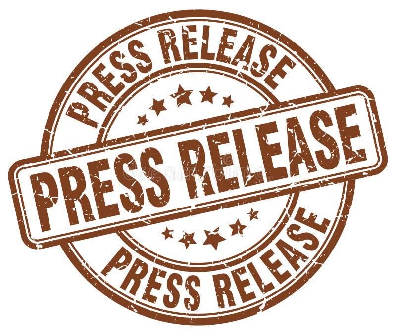 timbre de brun de communiqué de presse illustration de vecteur