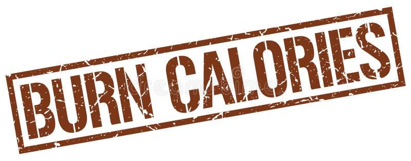 Timbre de calories de brûlure illustration stock