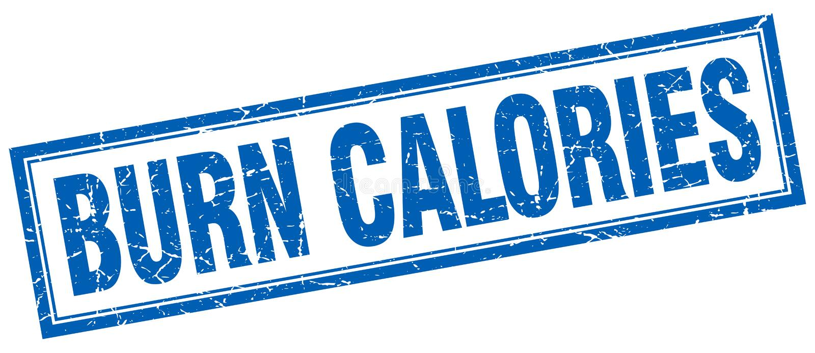 Timbre de calories de brûlure illustration stock
