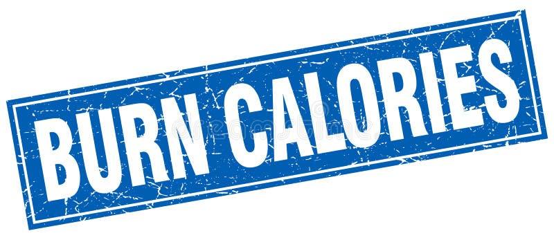 Timbre de calories de brûlure illustration libre de droits