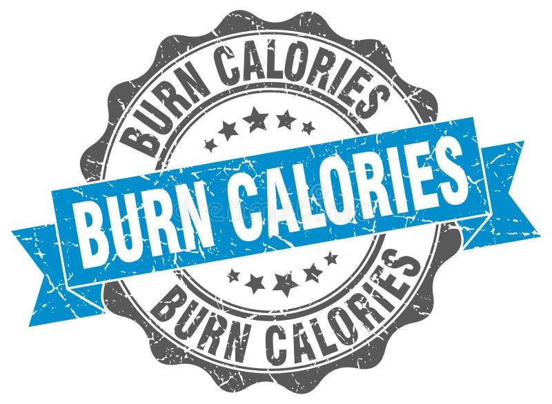 Timbre de calories de brûlure sceau illustration de vecteur