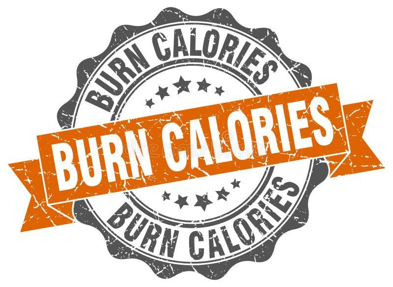 Timbre de calories de brûlure signe sceau illustration de vecteur