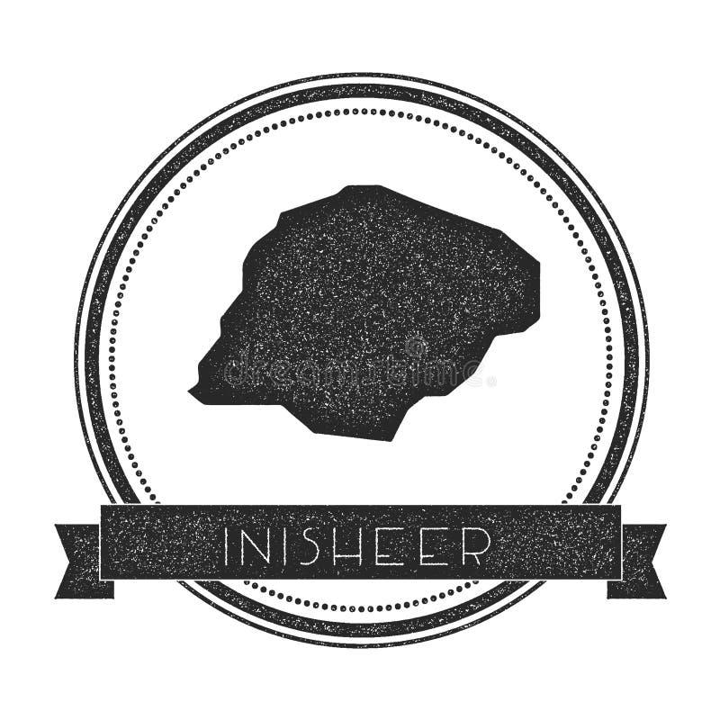 Timbre de carte d'Inisheer illustration stock