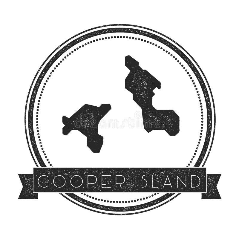 Timbre de carte d'Island de tonnelier illustration libre de droits