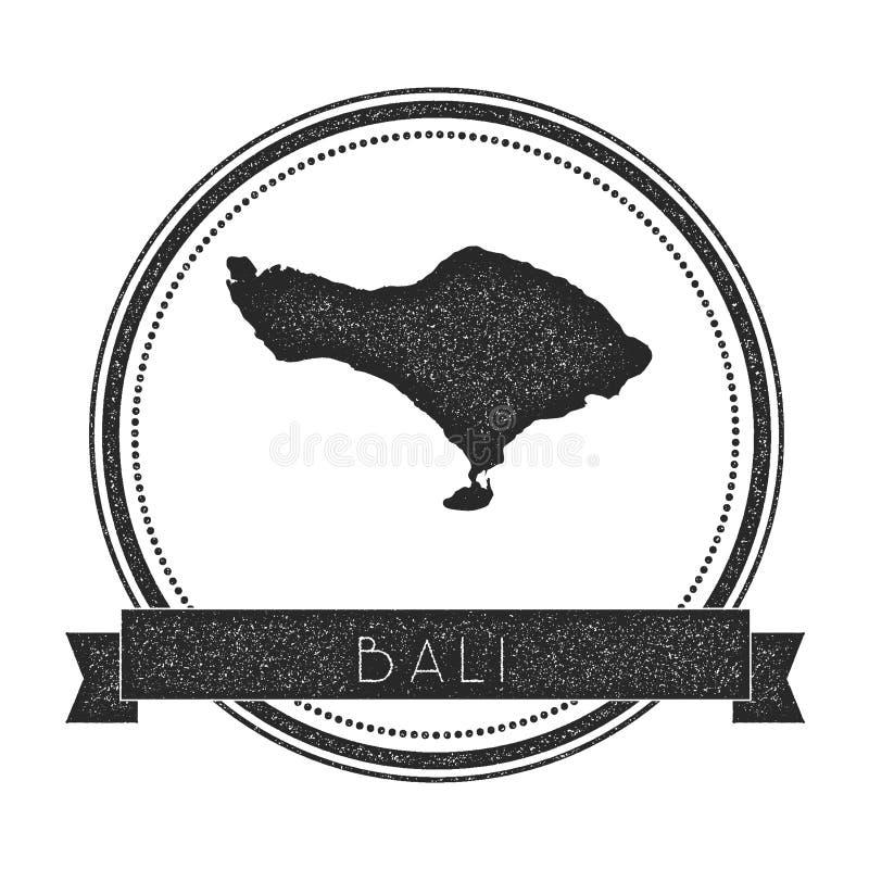 Timbre de carte de Bali illustration de vecteur