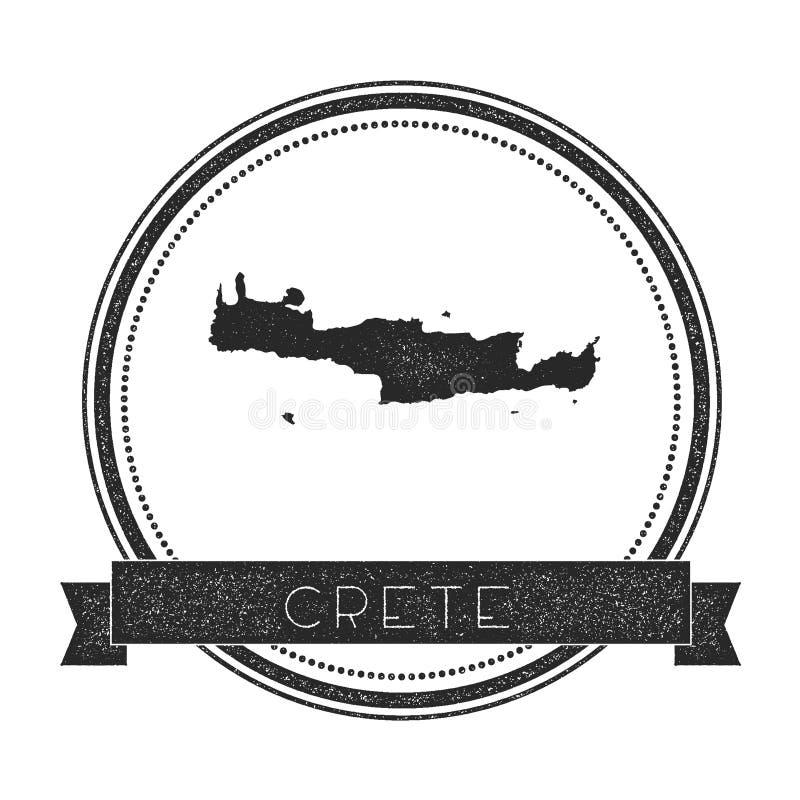 Timbre de carte de Crète illustration de vecteur