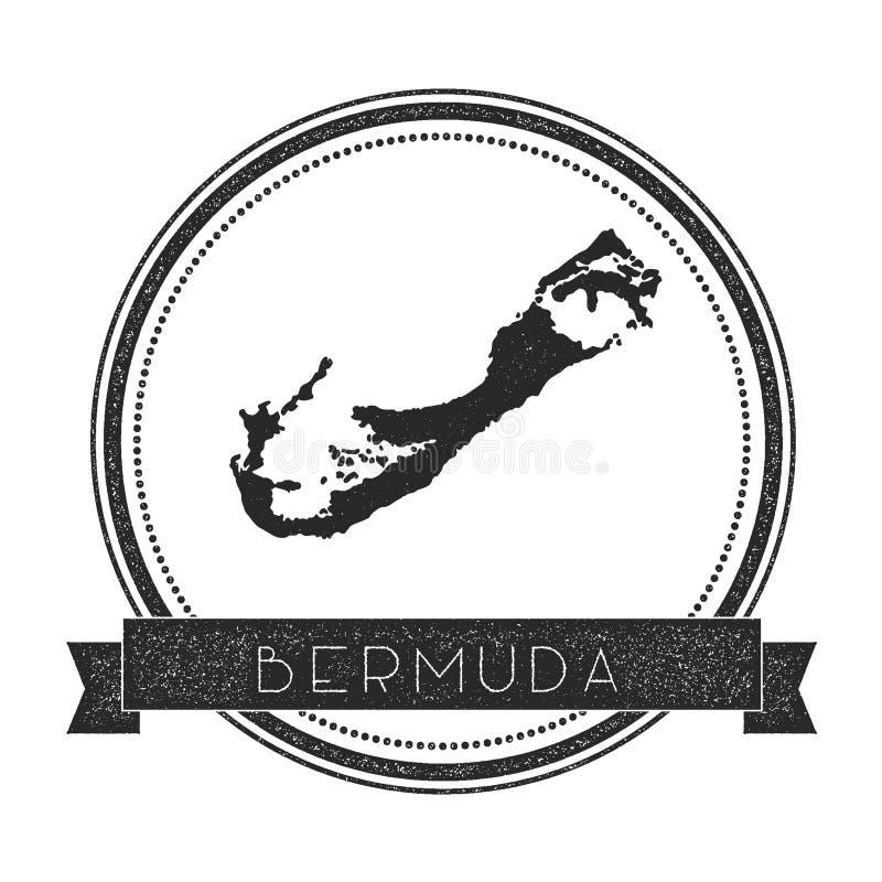 Timbre de carte des Bermudes illustration stock