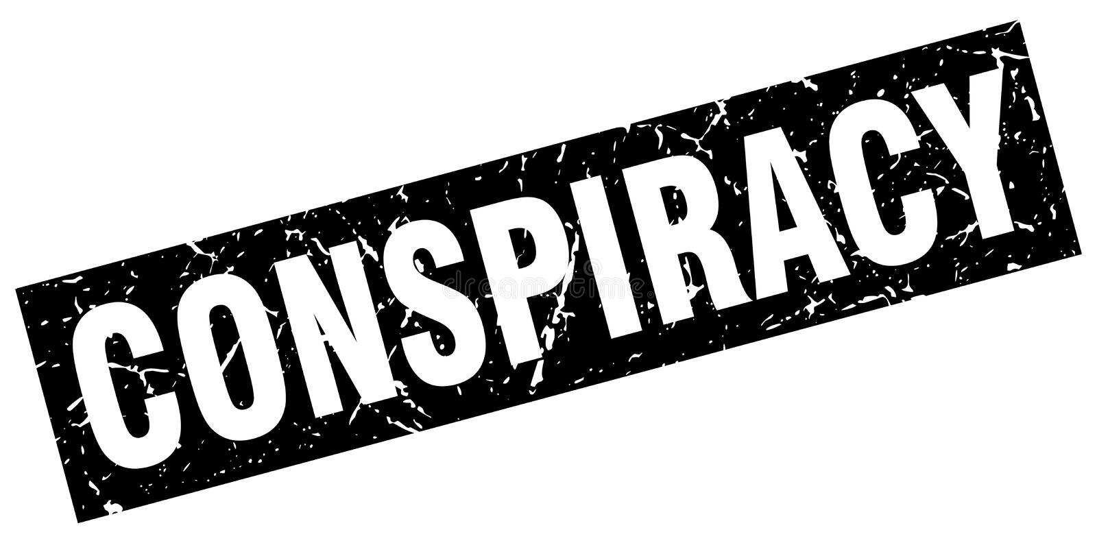 Timbre de conspiration illustration stock