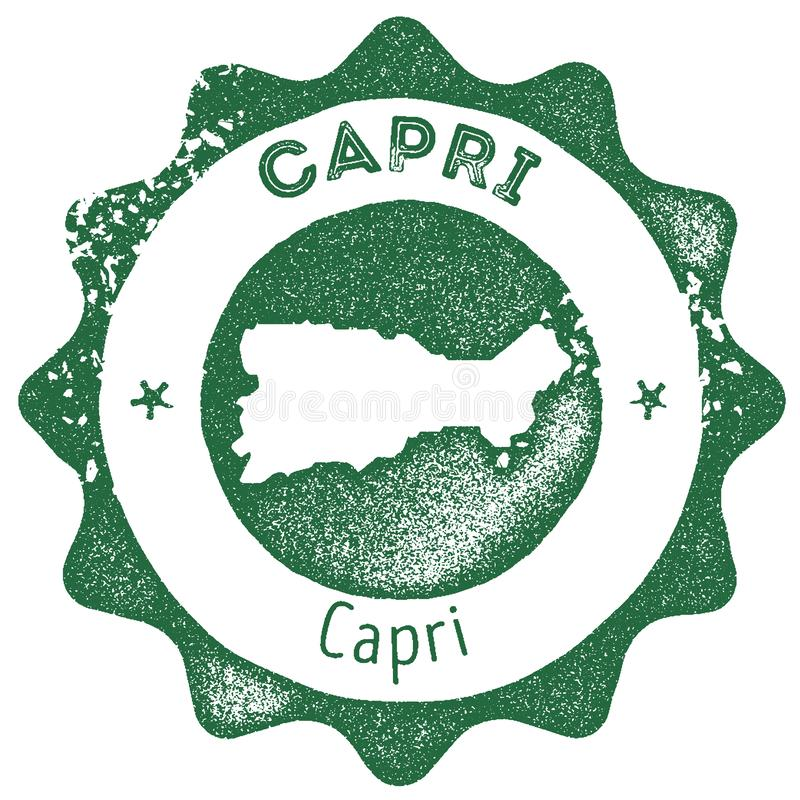 Timbre de cru de carte de Capri illustration stock