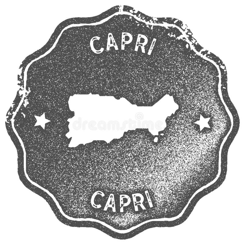 Timbre de cru de carte de Capri illustration de vecteur