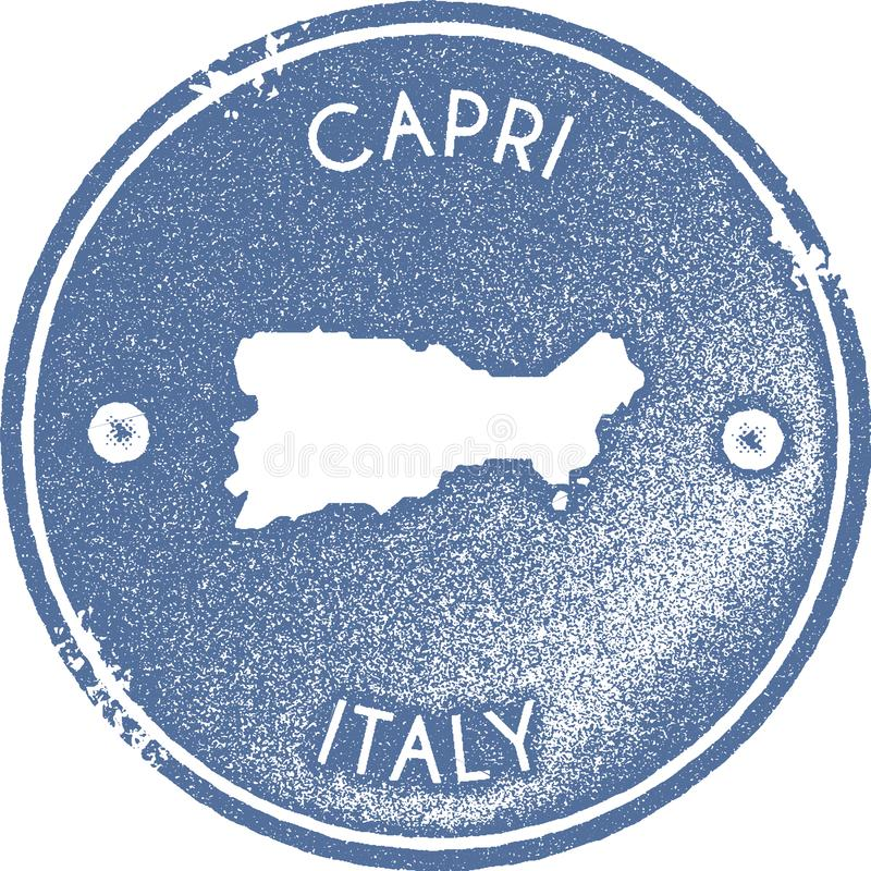 Timbre de cru de carte de Capri illustration libre de droits