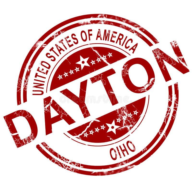 Timbre de Dayton Ohio avec le fond blanc illustration libre de droits