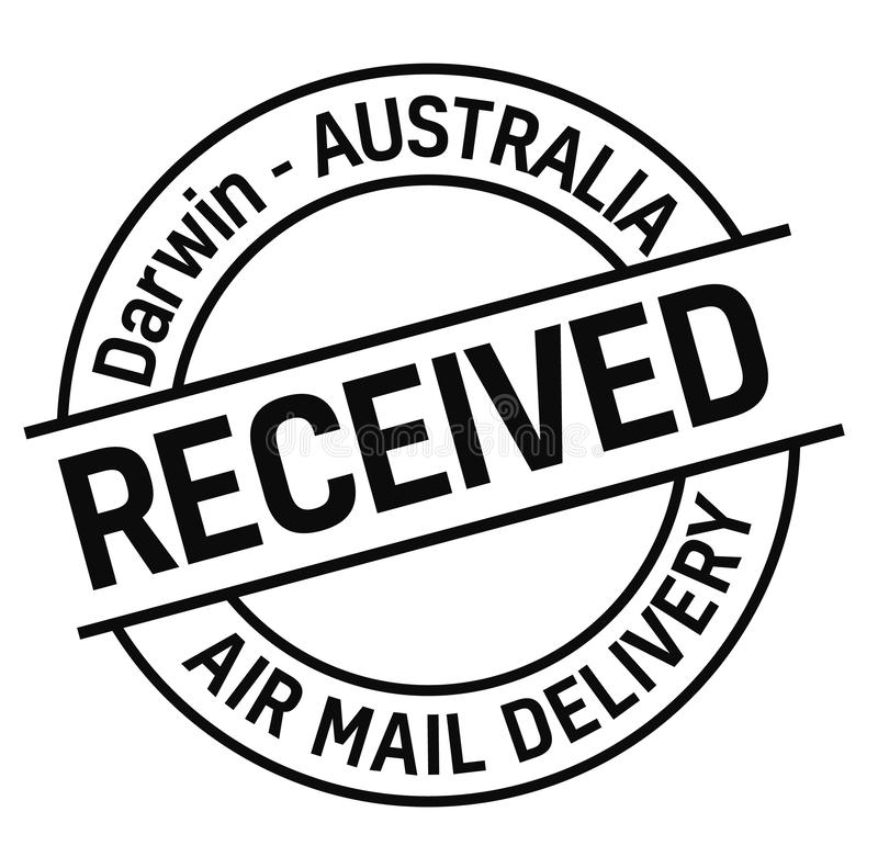 Timbre de distribution du courrier de DARWIN, AUSTRALIE illustration de vecteur