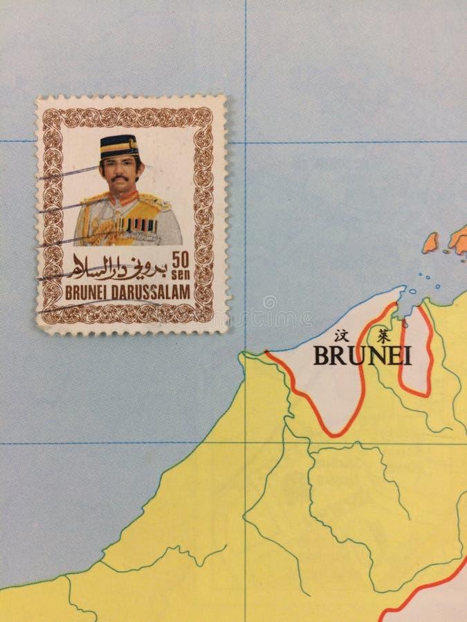 Timbre de 50 % du Brunéi Darussalam 1985 images stock