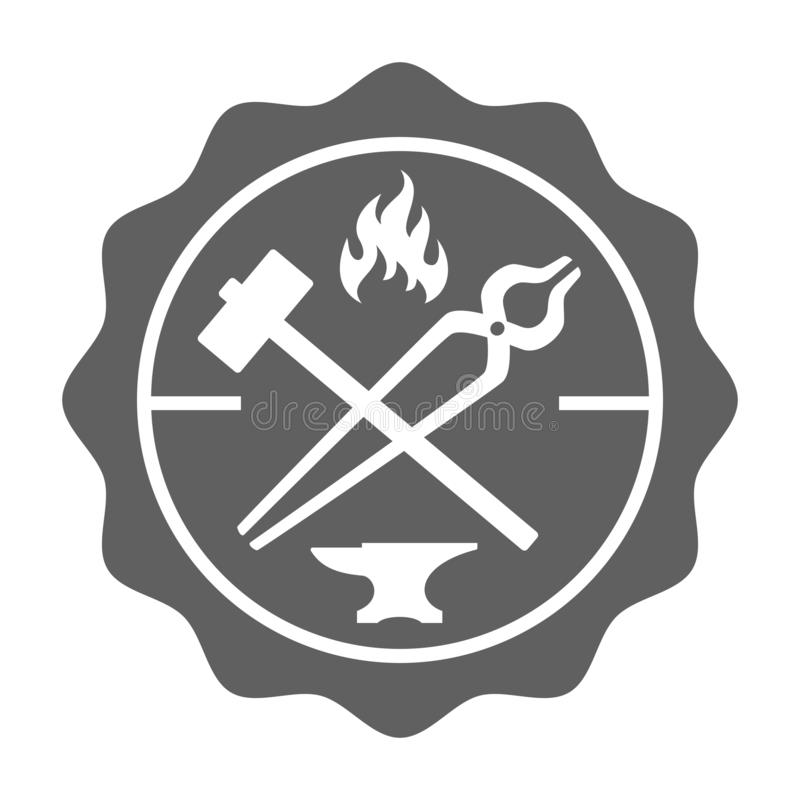 Timbre de forgeron dans le rétro style illustration libre de droits