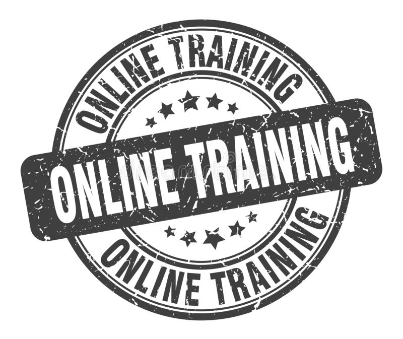 Timbre de formation en ligne illustration stock