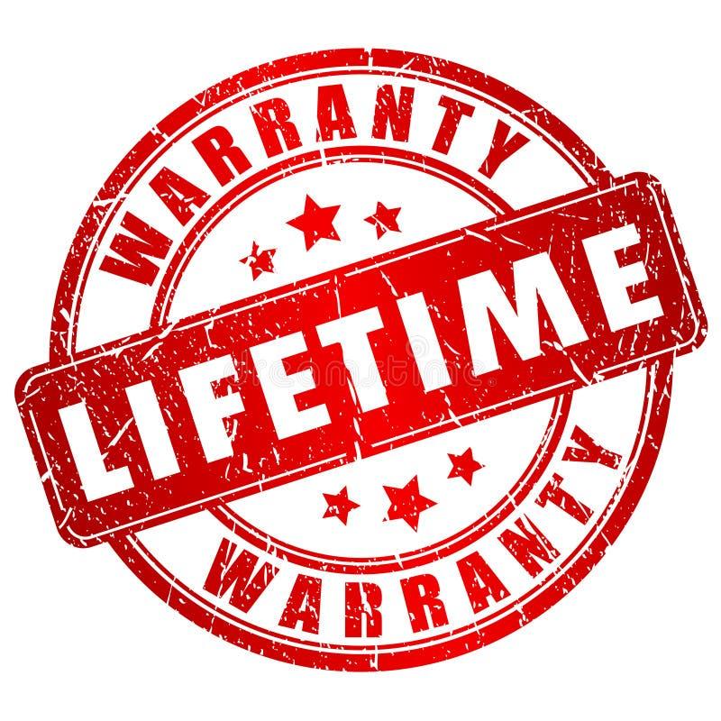 Timbre de garantie à vie illustration libre de droits