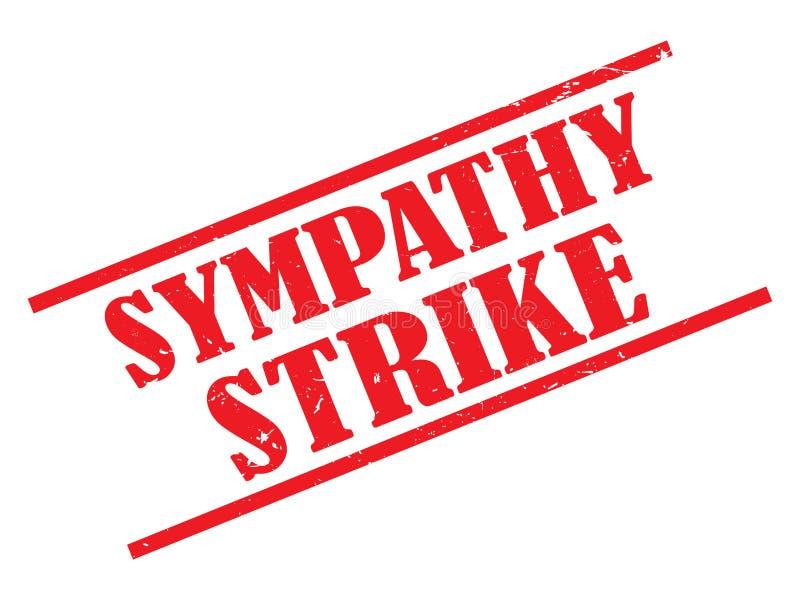 Timbre de grève de sympathie  illustration stock