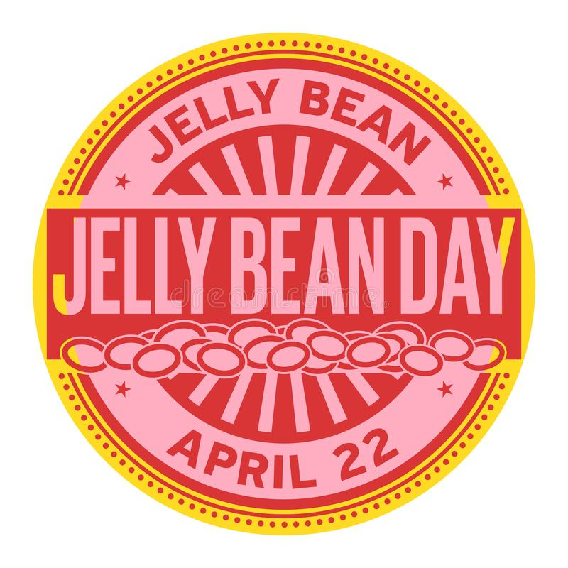 Timbre de Jelly Bean Day illustration de vecteur