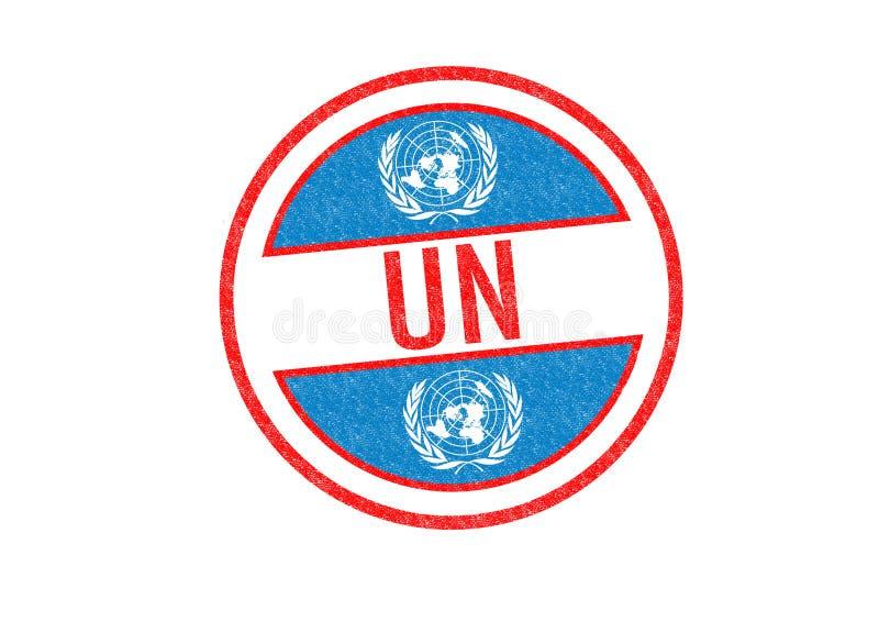 Timbre de l'ONU illustration de vecteur