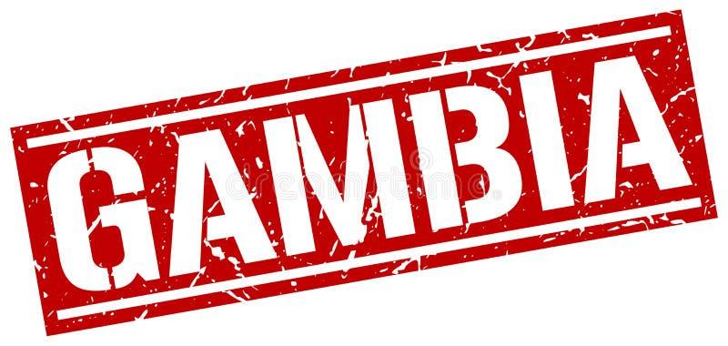 Timbre de la Gambie illustration de vecteur