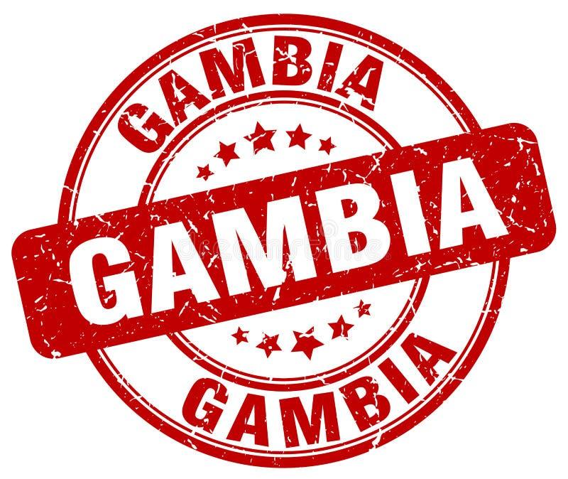 Timbre de la Gambie illustration stock